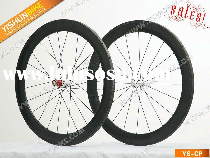 SALES! YS-CP60T 60MM tubular carbon road bike wheels