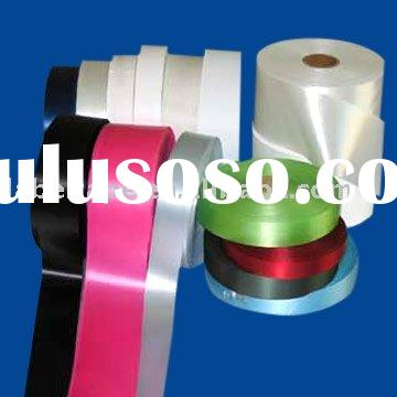 Slitted Edge Polyester Satin Label Fabric