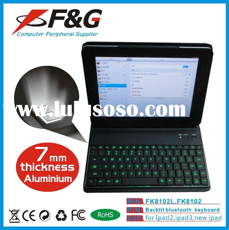 Ultra-thin LED bluetooth keyboard with case for ipad,iphone and tablet pc,panel pc.
