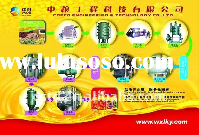 Vegetable oil/seed pretreatment, pressing/extraction and refining complete set of processing line