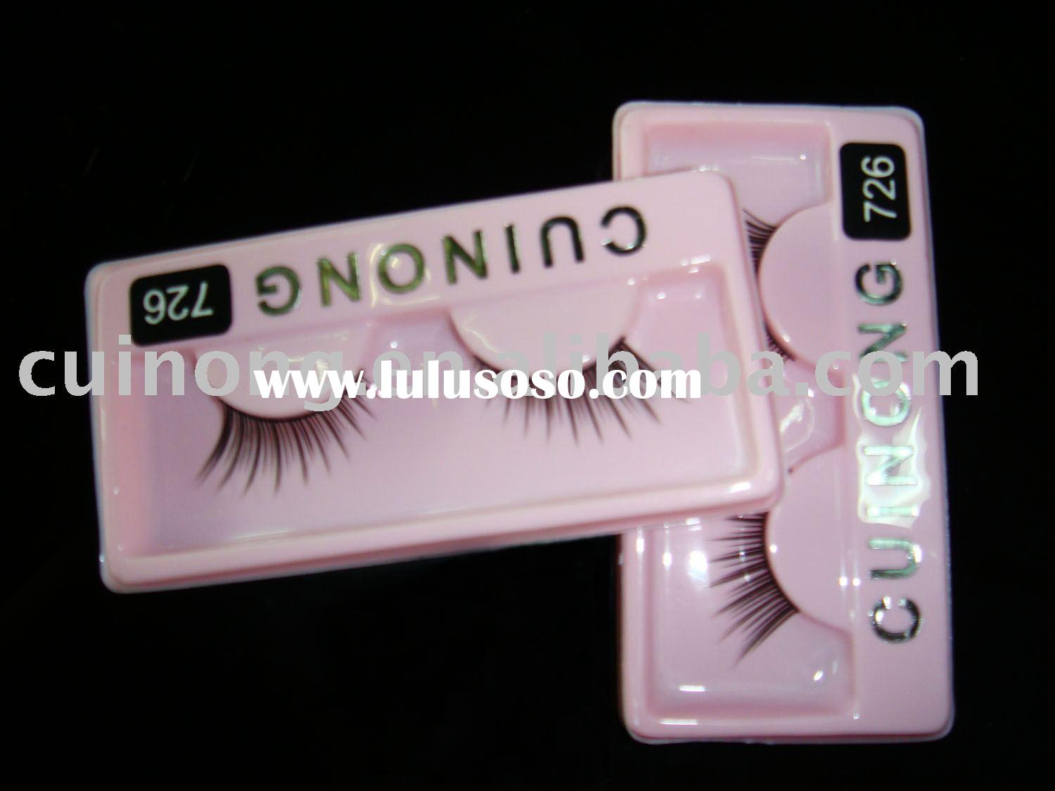 Wholesale OEM false eyelashes for cheap with glue EL-726