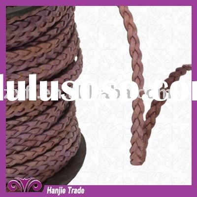 Wholesale Ply Flat Leather Braided Knitted Cord