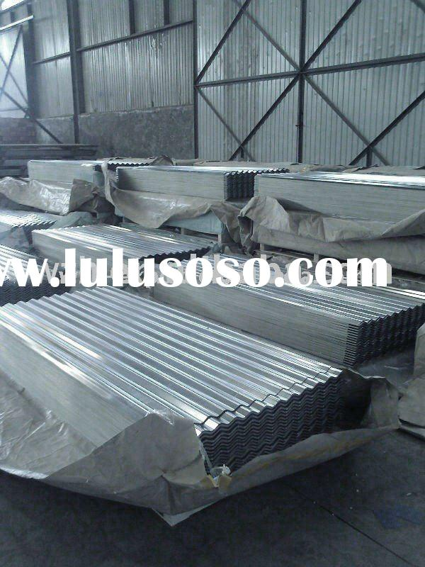 aluzinc or zinc corrugated steel roofing, galvanized steel roofing