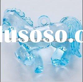 clear blue horse acrylic beads for decoration transparent beads