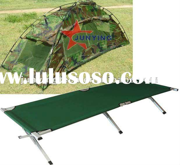double use one person portable camping and scout tent cot
