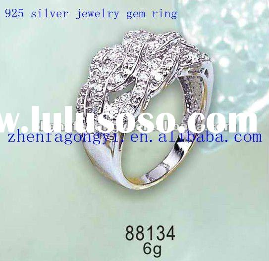 fashion 925 sterling silver jewelry gem ring