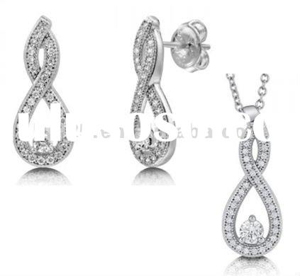 fashion 925 sterling silver jewelry set