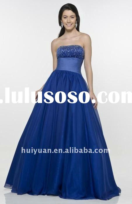 full beads royal blue bridesmaid dresses