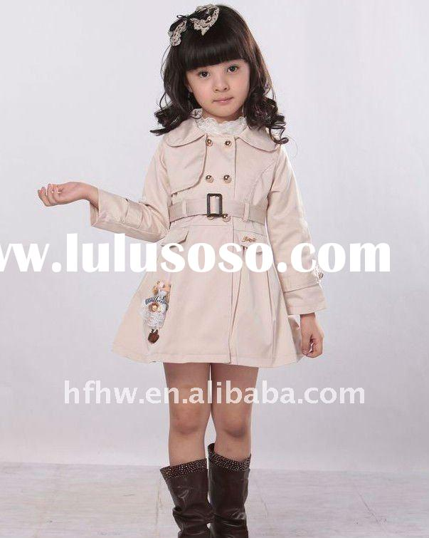 hot design fashion girl wear winter coat
