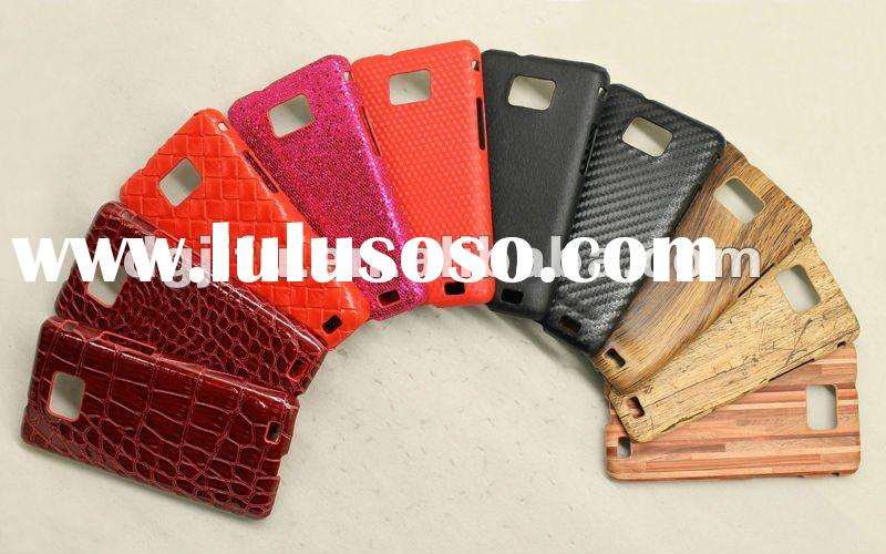 leather cases for Samsung Galaxy S2 i9100; thin leather back cover case for samsung S2;for Samsung i