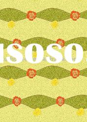 retro 100% polyester/cotton plain printed fabric for shower curtains
