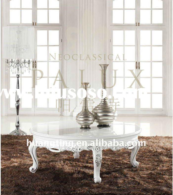 High End Round Coffee Tables: Royal Small Round End Table/ High End Round Coffee Table
