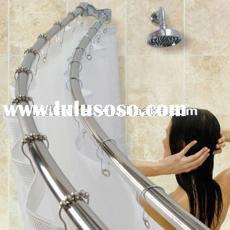 Double Shower Curtain Rod And Towel Bar For Sale