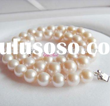10-11mm Round Natural Freshwater Pearl Necklace