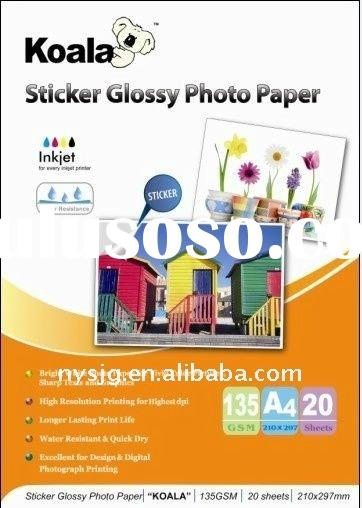 130g premium Sticker glossy photo paper(water glue) 130g