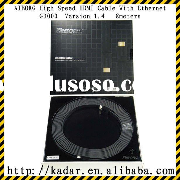 AIBORG G3000 1.4V HIGH SPEED HDMI CABLE WITH ETHERNET 8m