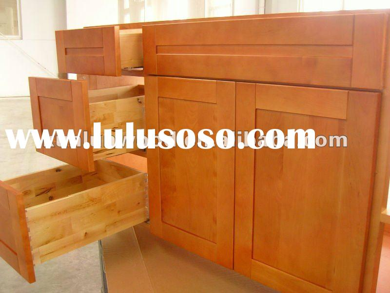 Amercian morden style ready made stainless sokid wood kitchen cabinet