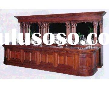 Antique solid wood bar set,hand carving bar table,bar stool