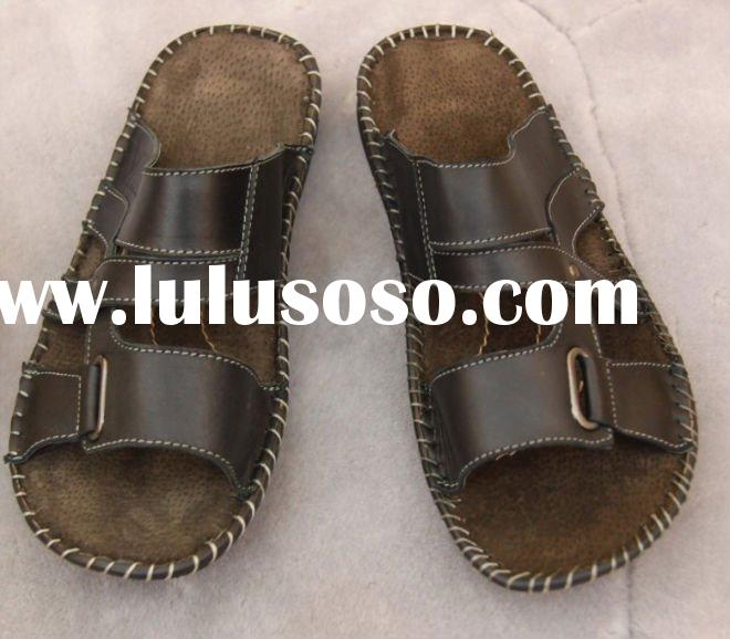 Buffalo hide slippers sandals for men