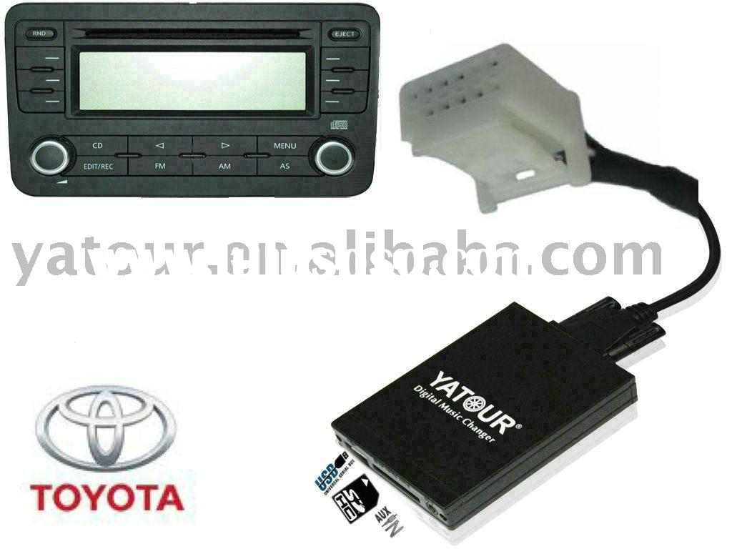Car audio interface (USB SD AUX) for Toyota 6+6 small Auris Avensis Camry COROLLA MR2 PRIUS Yaris RA