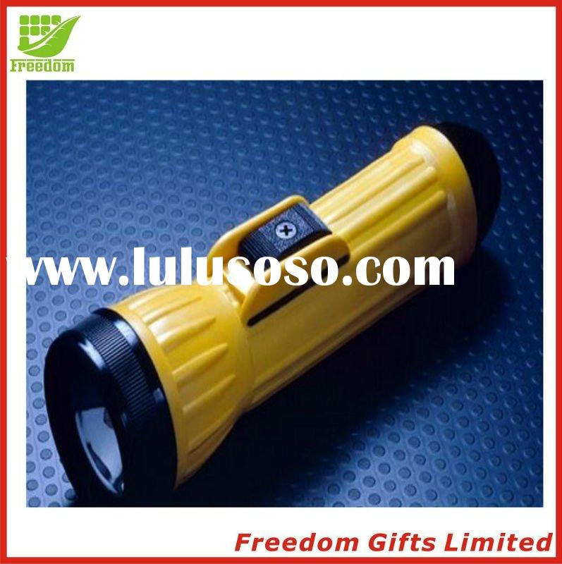 Cheapest Price Top Quality Logo Printed Plastic/Metal LED Flashlight, Electric Torch