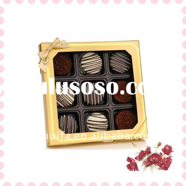 Chocolate window candy boxes PVC/PE