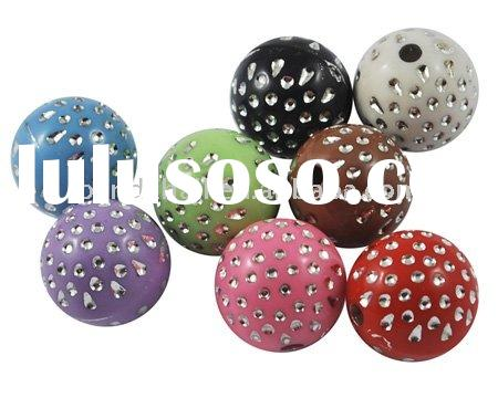 Colorful Acrylic Beads, Sparkle Art Jewelry Beads(PAB2993Y)