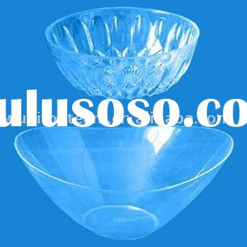 Crystal Clear Plastic Salad Bowl