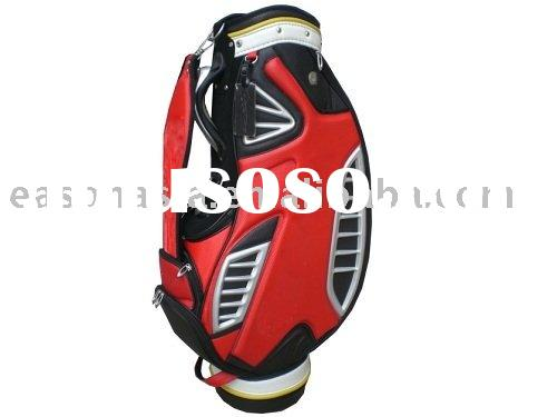 Customized PU Pouch And Plastic Base And Golf Bag