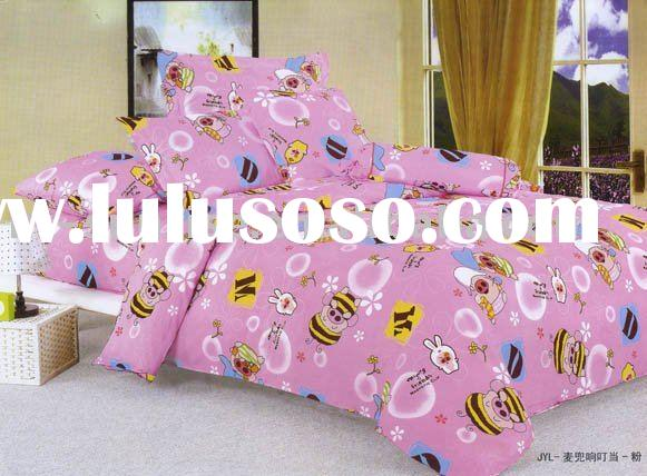 Handsome pig design 100%cotton pigment printing 4pcs bedding set(MDXDD)