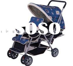 OBS601, Twins Stroller, baby three wheels Carriage, Baby Walker, Baby Stroller, Baby Carrier, Baby B