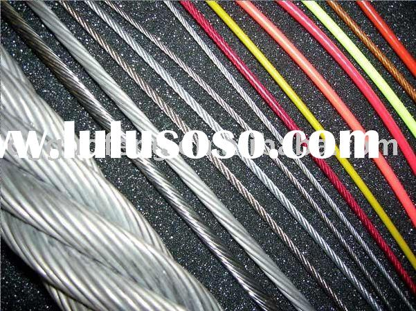 Plastic coated galvanized steel wire rope(PVC, PU, PP, nylon)