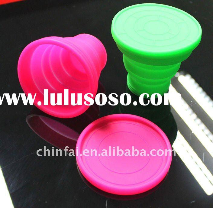 Silicon Collapsible cup,silicon rubber food container kitchenware ,available in microwave