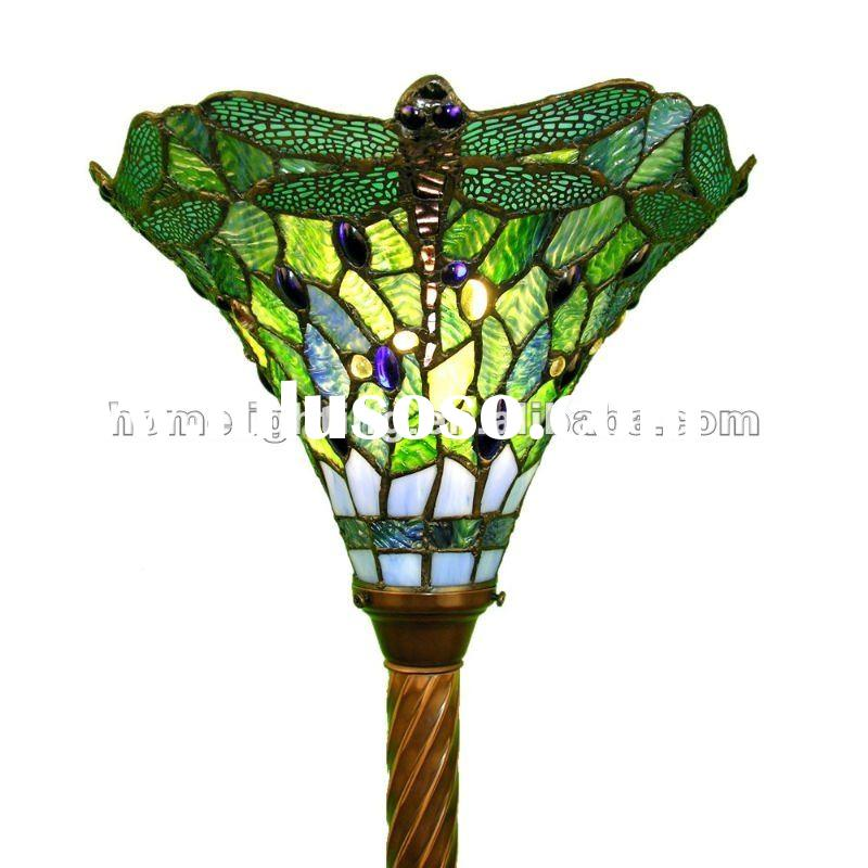 Tiffany Style Green Dragonfly Torchiere Floor Lamp,TFF-7210