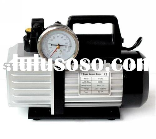 VP-145 single stage vacuum pump with valve and gauge,5CFM, 142L/min,5Pa,1/3HP,1/4''F