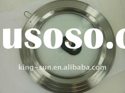 [ HOT SALE] Stainless Steel Kitchen Pot Lid / Round tempered glass and heat-resistant plastic /Multi