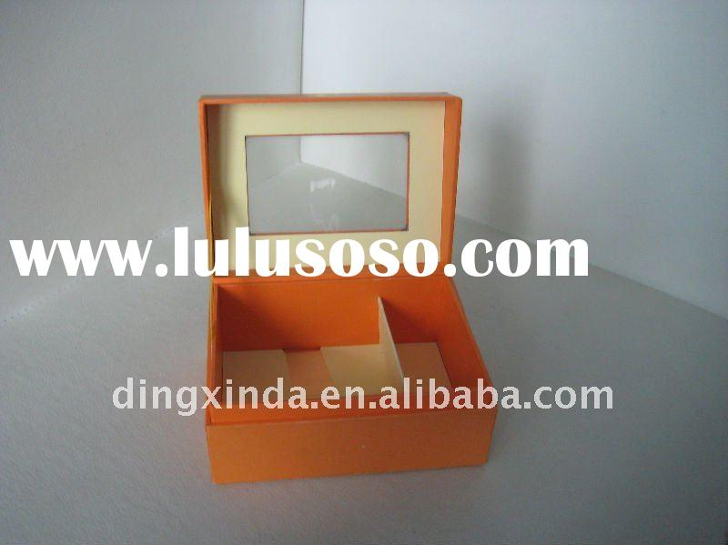 base and lid two parts paper display packing boxes with pvc window