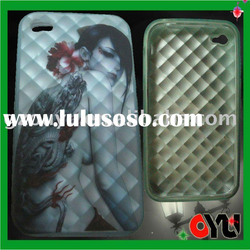 girls picture-high quality TPU case for iphone 4