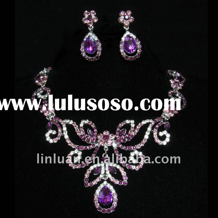 indian/african bridal crystal jewelry set