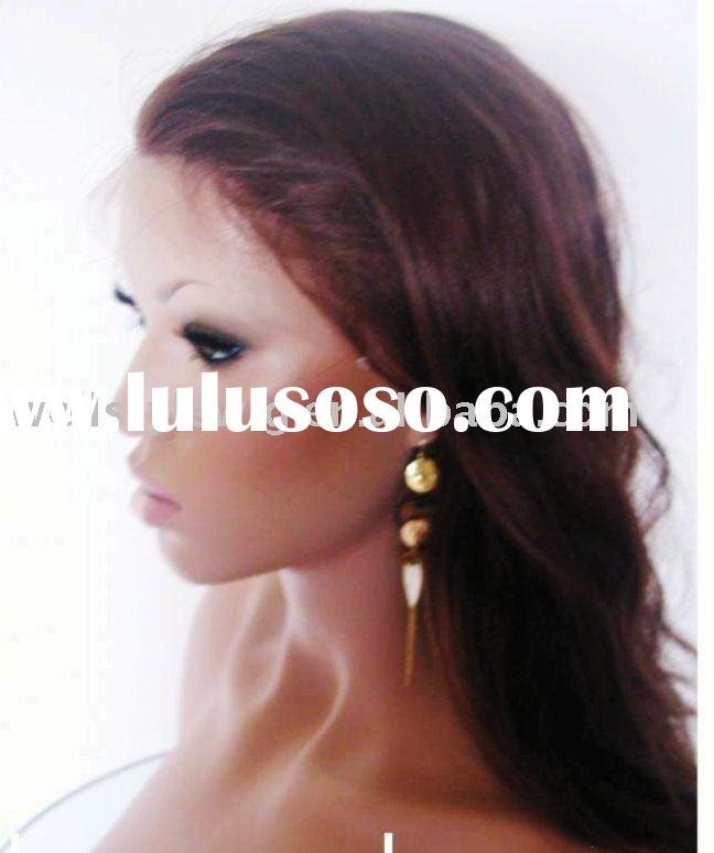 red color human hair lace wig
