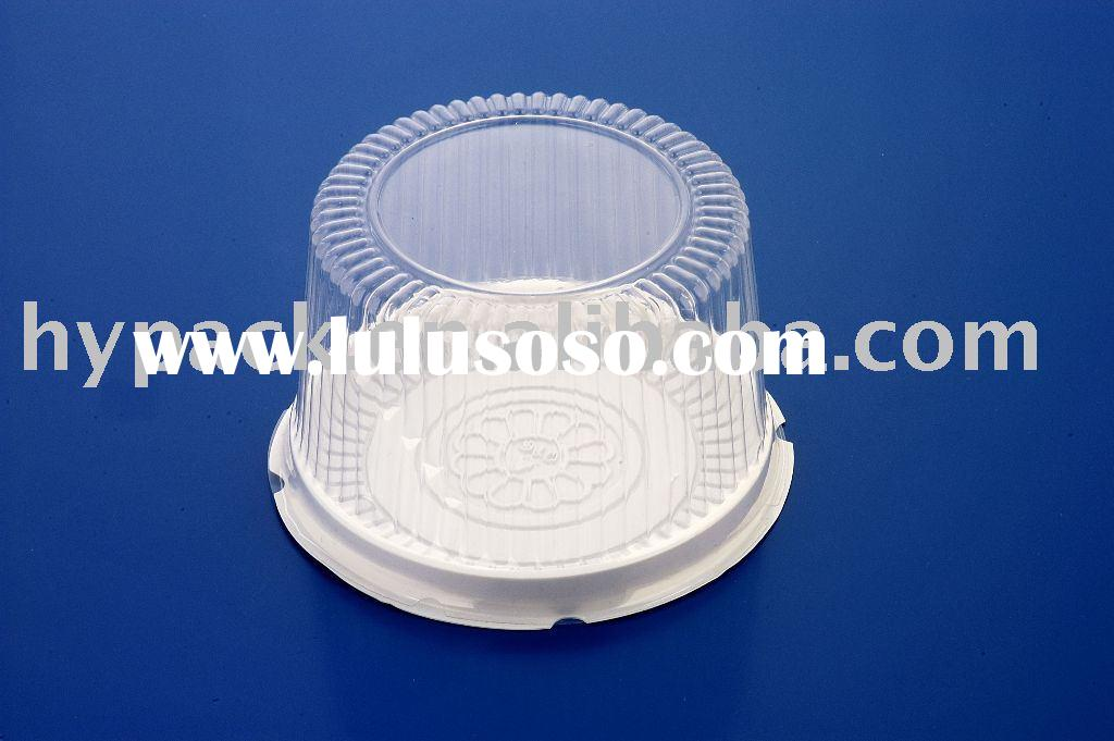 round clear plastic cake packaging box