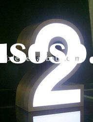 stainless steel and acrylic led channel letter signs