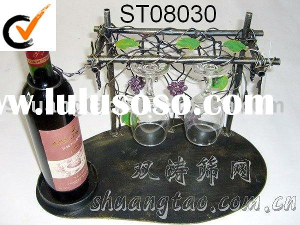 stand wine and glass display shelf