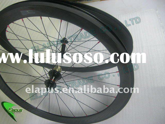 100% hand built 60mm Clincher Track Bicycle carbon wheelset