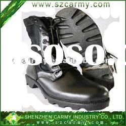 2012 Shenzhen Black Genuine Leather Army Security Combat Boots