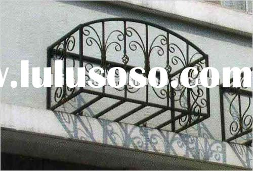 2012 china manufacture factory painting galvanized wrought iron window grilles