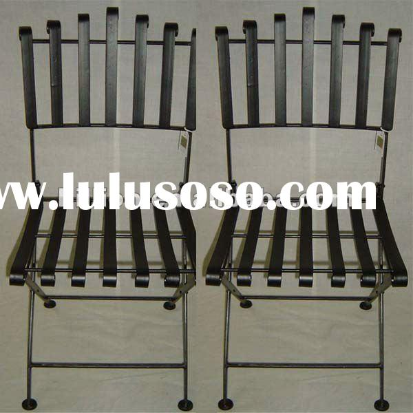 2012 china manufacturer wrought iron chair frame of solid bar
