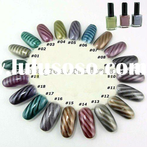 3D Magical Magnetic Magnet Nail Polish Fashion Color Nail Art 15ml / Magnet Rod 20Color for your cho