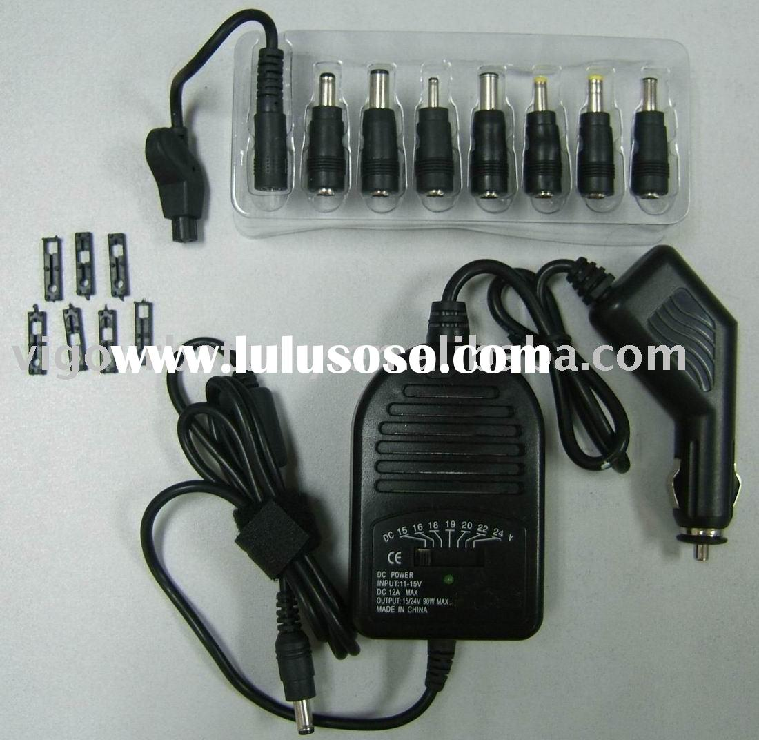 90w car adapter for notebook, universal car charger for laptop