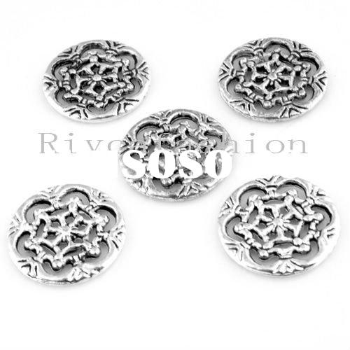 Best selling newest 18mm Antique silver fashion snow flake pendant wholesale jewelry component
